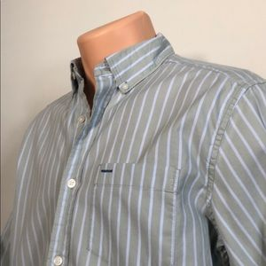 Green/Pale Blue Pinstripe L/S Button-up